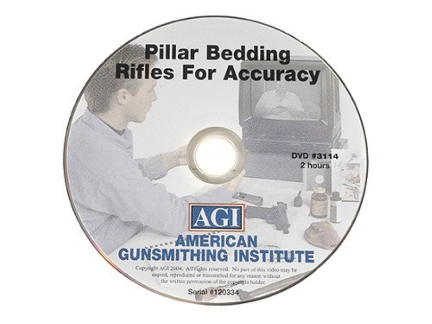 "American Gunsmithing Institute (AGI) Video ""Pillar Bedding Rifles for Accuracy"" DVD"