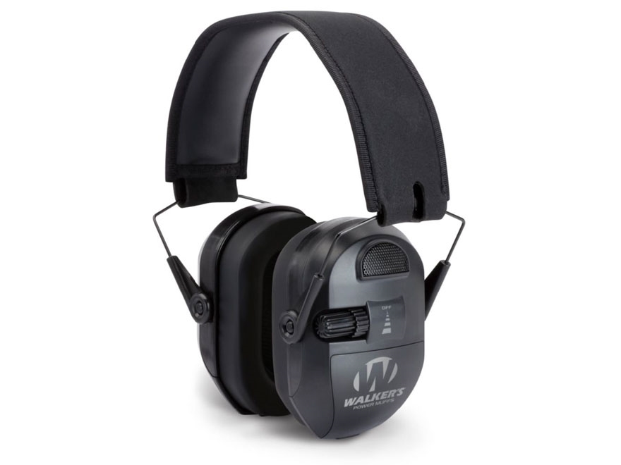 Walker's Ultimate Power Muff Electronic Earmuffs (NRR 26dB) Black
