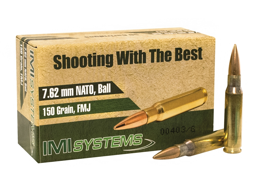 IMI Ammunition 7.62x51mm NATO 150 Grain Full Metal Jacket