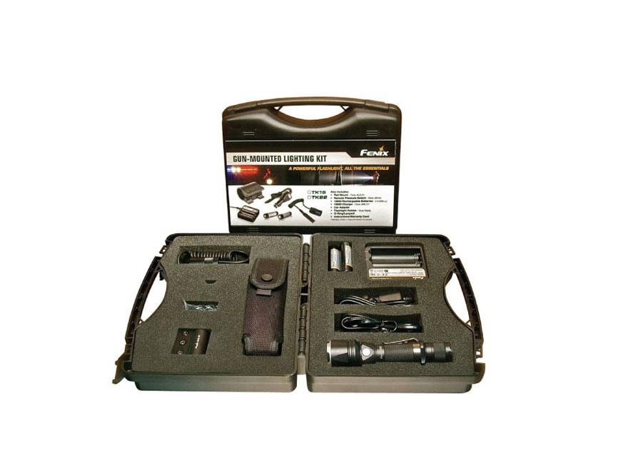 Fenix TK22 Complete Gun Kit LED with 2 18650 Rechargeable Batteries Aluminum Black