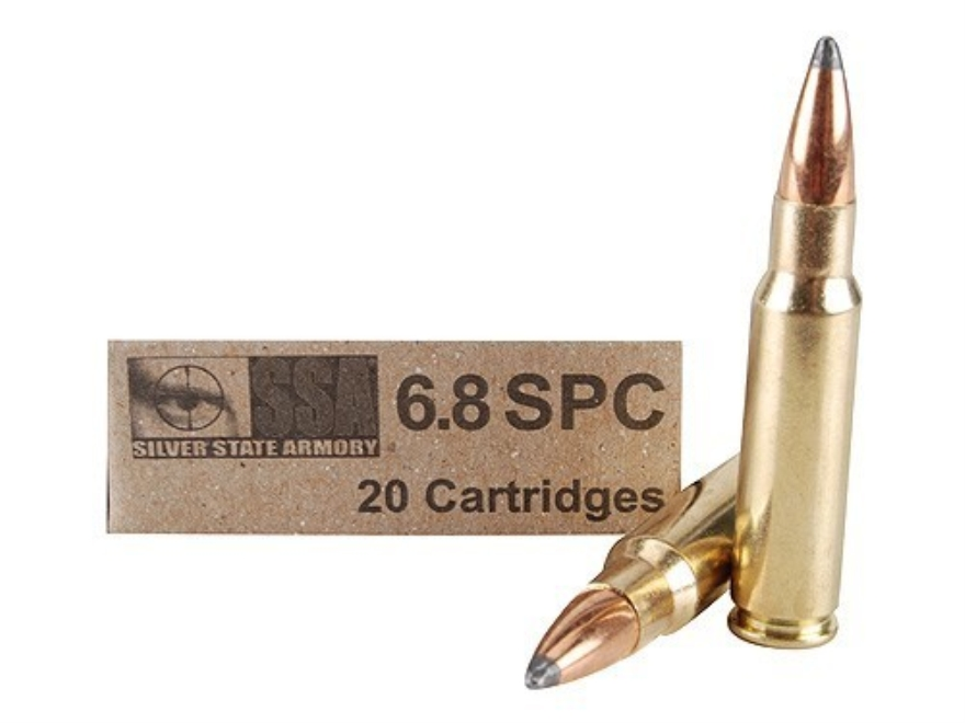 Silver State Armory Ammunition 6.8mm Remington SPC 110 Grain Sierra Pro-Hunter Box of 20