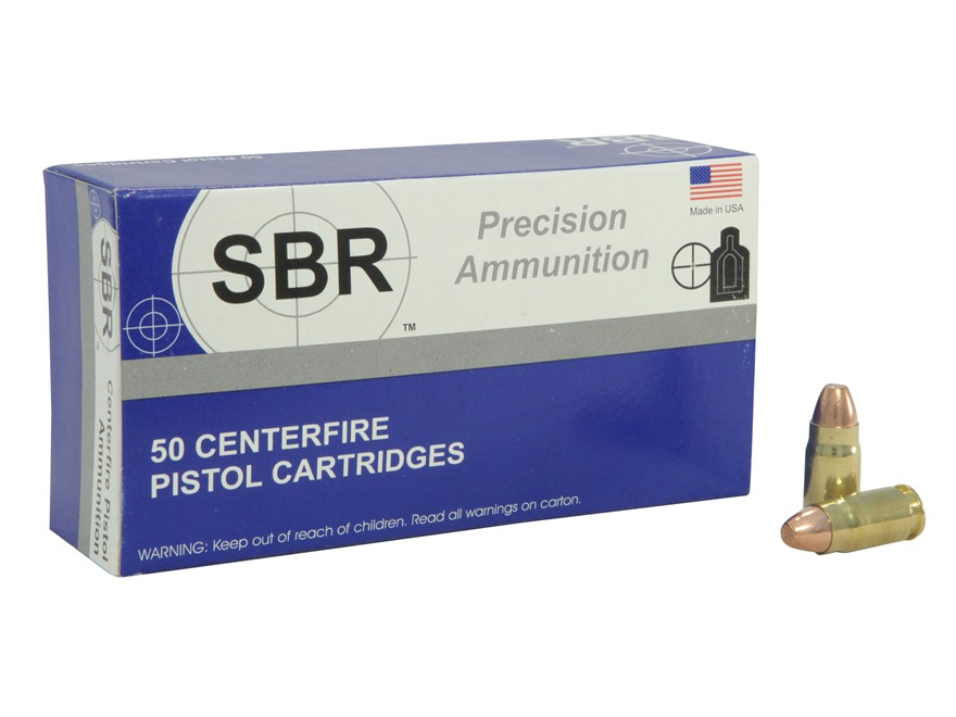 SBR Match Ammunition 357 Sig 147 Grain Total Copper Jacket Box of 50