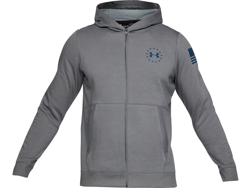 Under Armour Men's UA Freedom Threadborne Fleece Full-Zip Hoodie Polyester