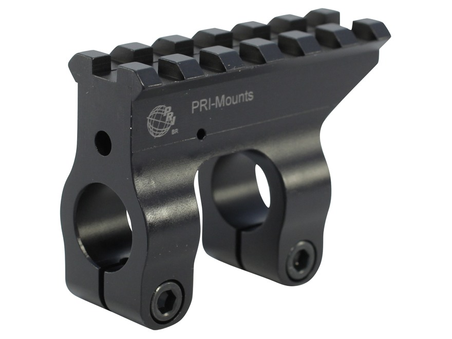 PRI Gas Block Single Picatinny Rail AR-15, LR-308 Aluminum Matte