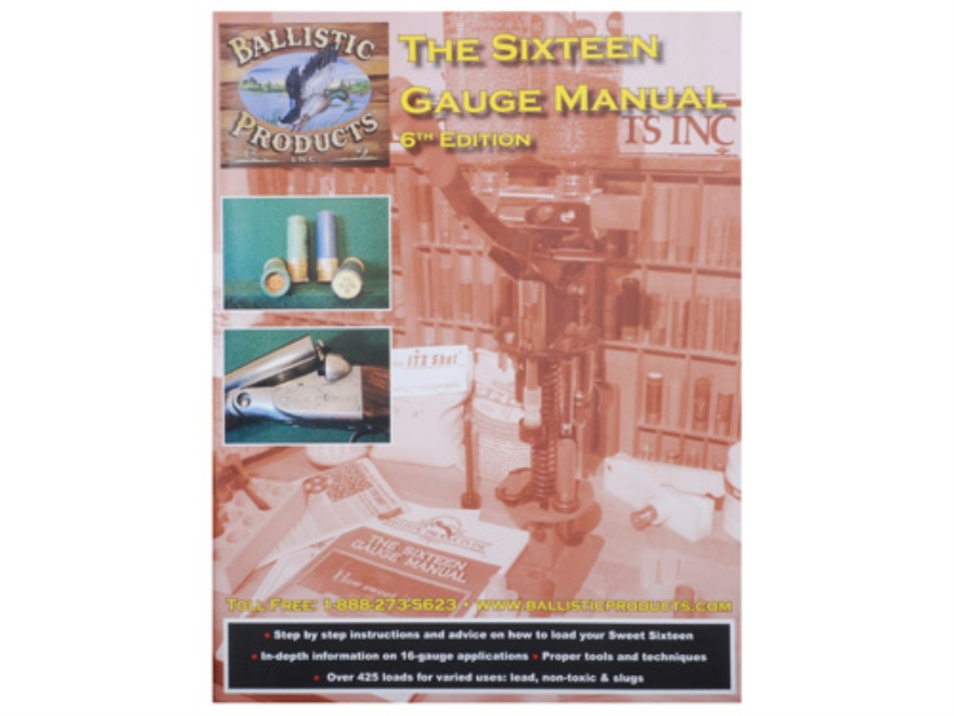 "BPI ""The Sixteen Gauge Manual: 6th Edition"" Reloading Manual"