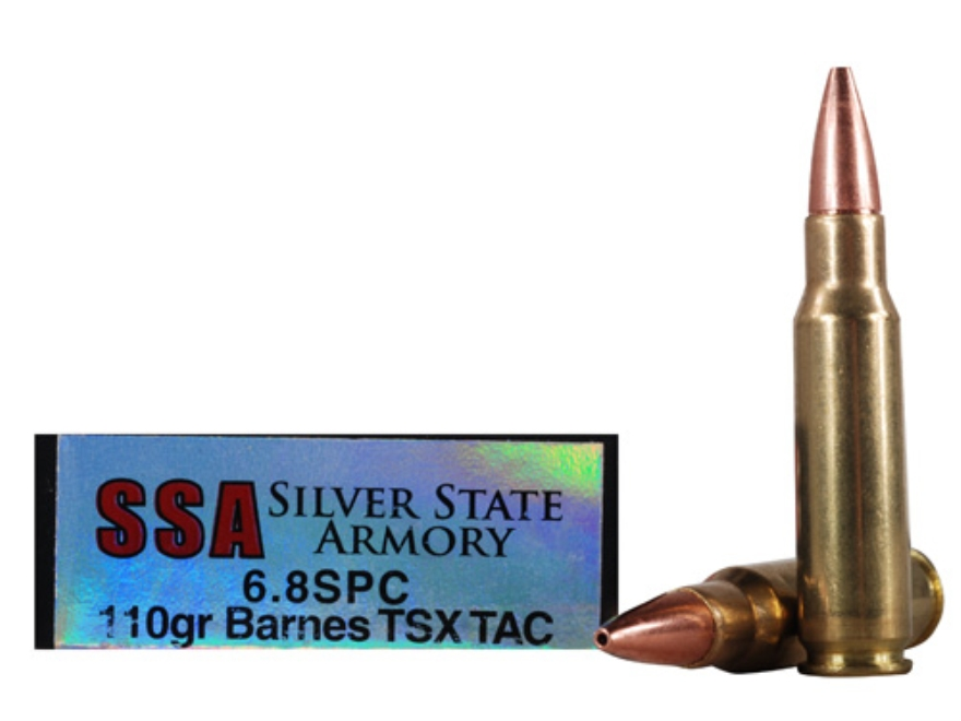 Silver State Armory Ammunition 6.8mm Remington SPC 110 Grain Barnes Triple-Shock X Tact...