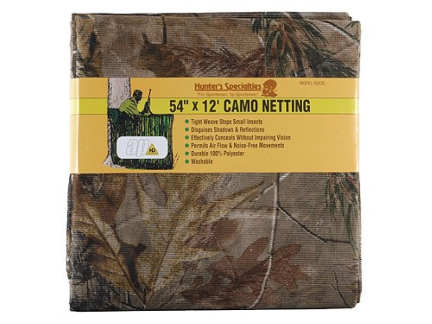 "Hunter's Specialties Blind Material 12' x 54"" Mesh Polyester Realtree AP Camo"