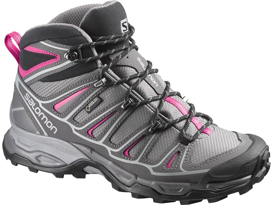 "Salomon X Ultra Mid 2 GTX 6"" Waterproof Hiking Boots Synthetic Detroit/Autobahn/Hot Pin..."