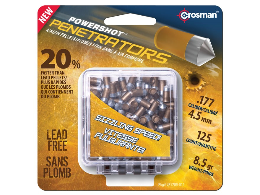 Crosman Gold Flight Penetrators Airgun Pellets 177 Caliber 8.5 Grain Polymer Wrapped Pa...