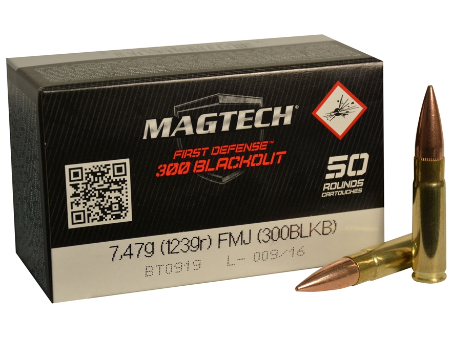 Magtech First Defense Ammunition 300 AAC Blackout 123 Grain Full Metal Jacket