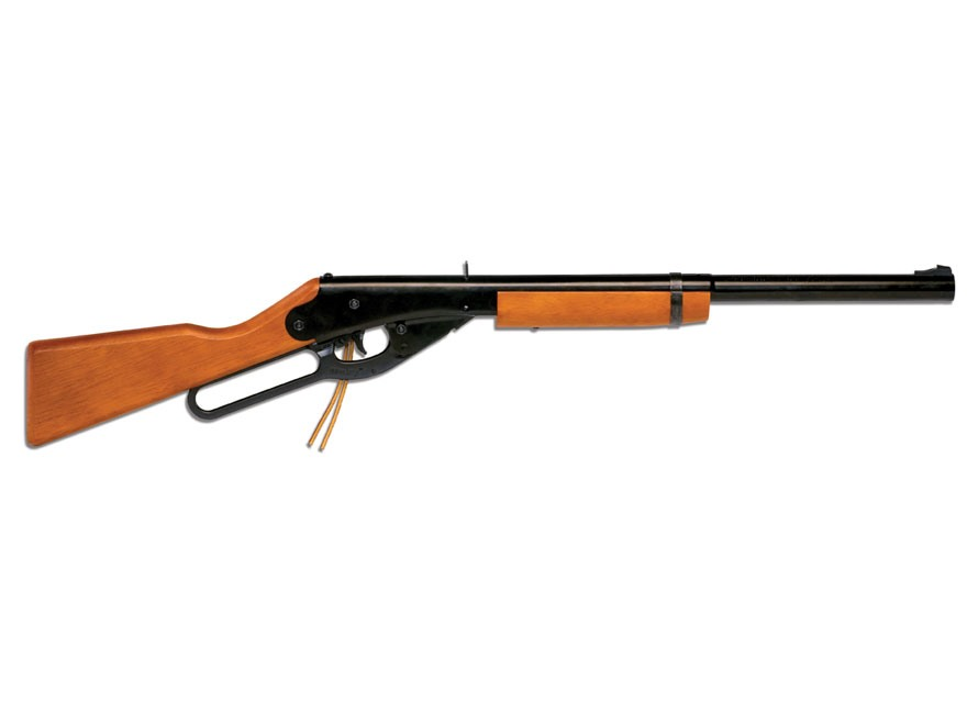 Daisy Model 10 BB Youth Lever Action Air Rifle 177 Caliber BB Wood Stock Blue Barrel