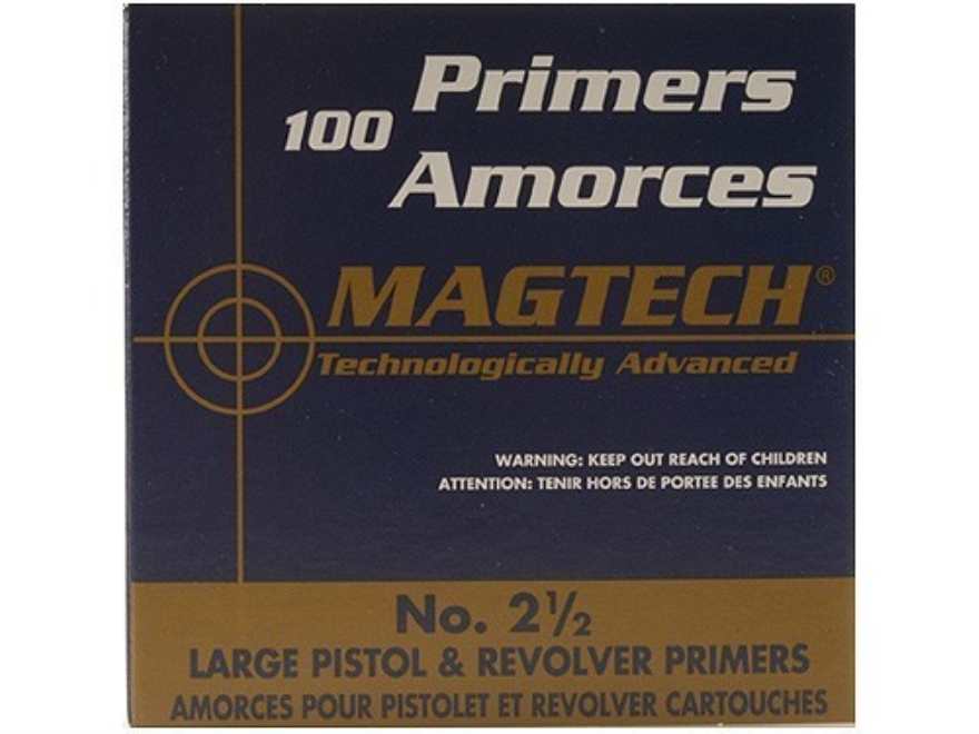 Magtech Large Pistol Primers #2-1/2 Case of 5000 (5 Boxes of 1000)