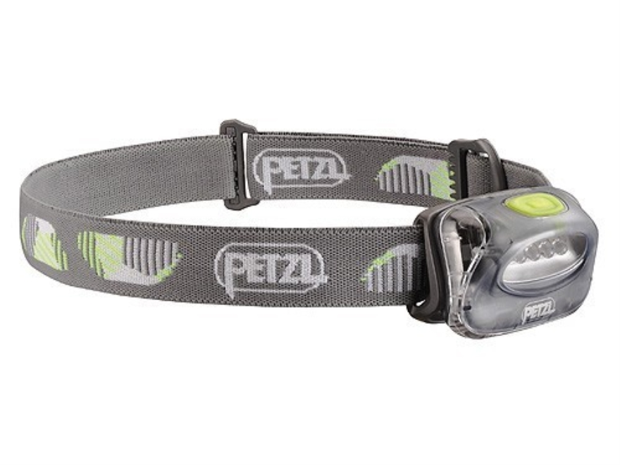 Petzl Tikka 2 Headlamp LED with 3 AAA Batteries Polymer Storm Gray