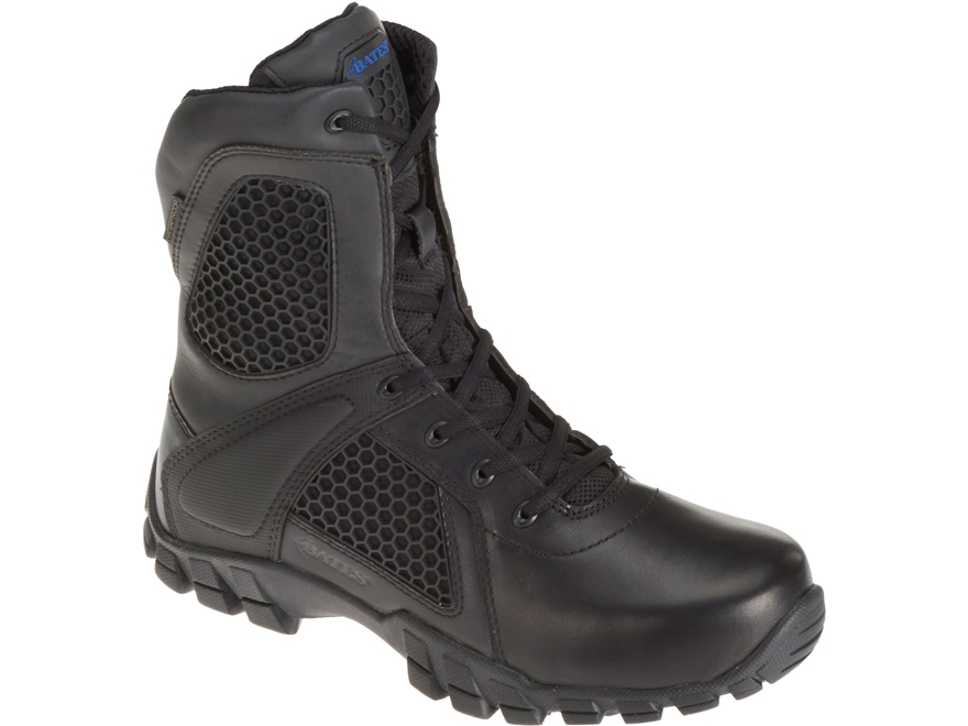 "Bates Shock 8"" Side-Zip Tactical Boots Leather/Nylon"
