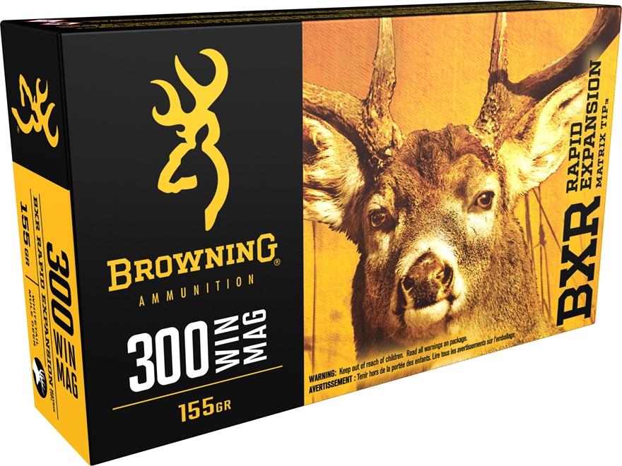 Browning BXR Rapid Expansion Ammunition 300 Winchester Magnum 155 Grain Matrix Tip