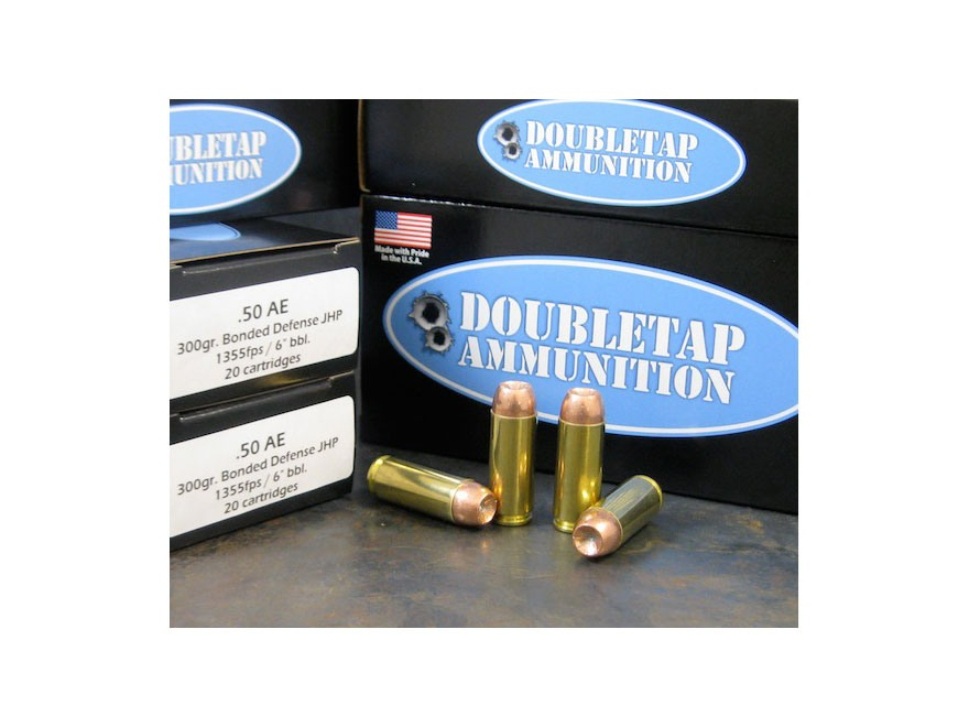Doubletap Ammunition 50 Action Express 300 Grain Bonded Defense Jacketed Hollow Point B...