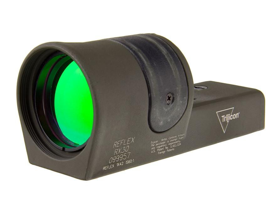 Trijicon RX30-C Reflex Sight 1x 42mm 6.5 MOA Dual-Illuminated Amber Dot Cerakote
