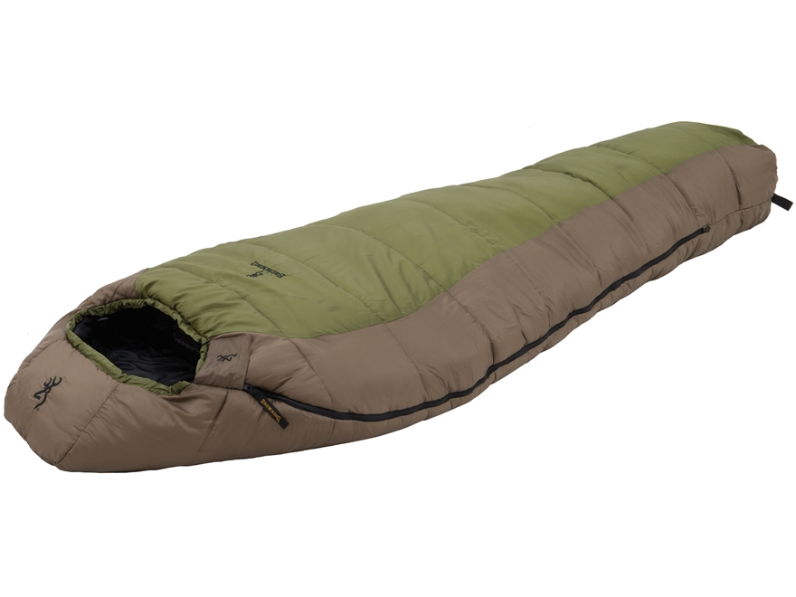 Browning Fortitude 0 Degree Mummy Sleeping Bag Polyester Clay and Tan