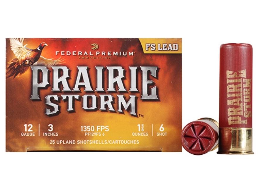 "Federal Premium Prairie Storm Ammunition 12 Gauge 3"" 1-1/4 oz #6 Plated Shot"