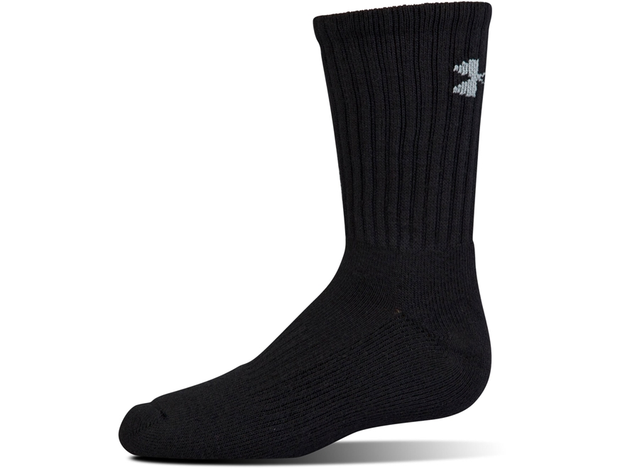 Under Armour Men's UA Charged Cotton 2.0 Crew Socks Synthetic Blend 6 Pairs
