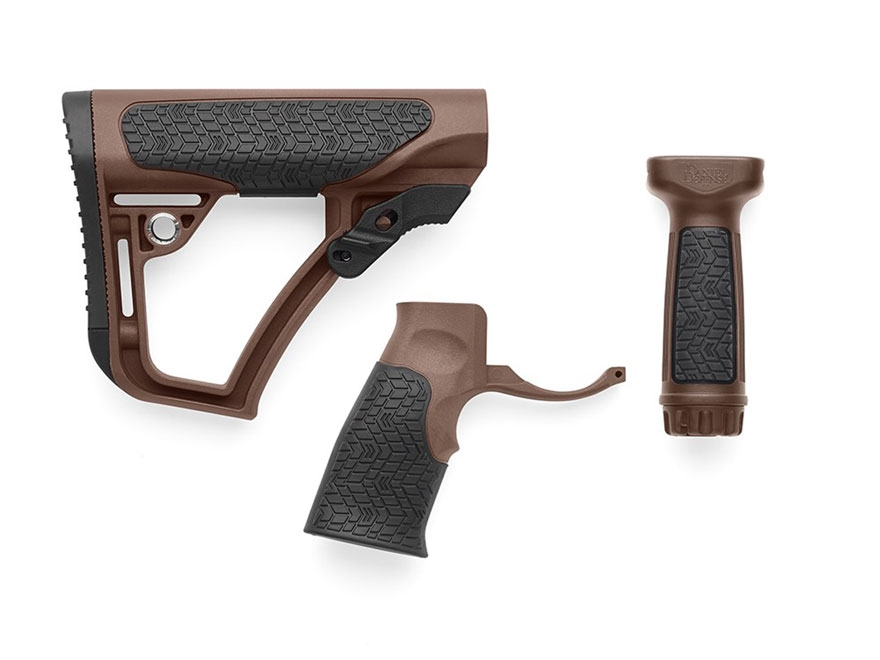 Daniel Defense Collapsible Stock, Pistol Grip, Vertical Foregrip Combo Kit Mil-Spec Dia...