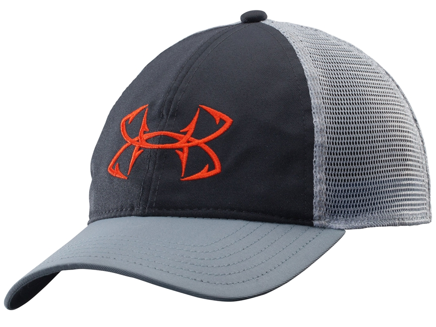 Under armour fish hook mesh back cap polyester mpn for Fish hook for hat