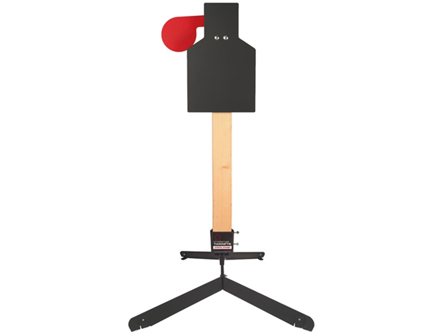 Challenge Targets Handgun Paddle Target Steel with Static Stand