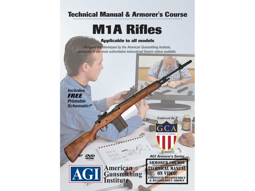"American Gunsmithing Institute (AGI) Technical Manual & Armorer's Course Video ""M1A Rif..."