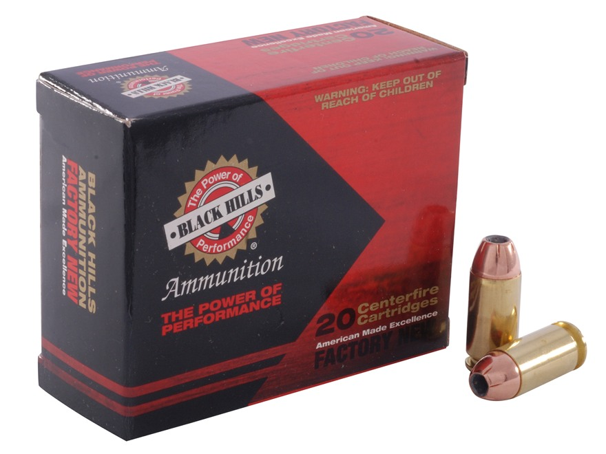Black Hills Ammunition 40 S&W 180 Grain Jacketed Hollow Point Box of 20