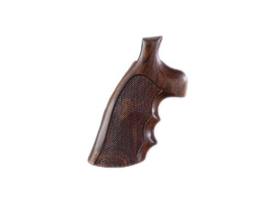 Hogue Fancy Hardwood Grips with Finger Grooves S&W K, L-Frame Square Butt Checkered