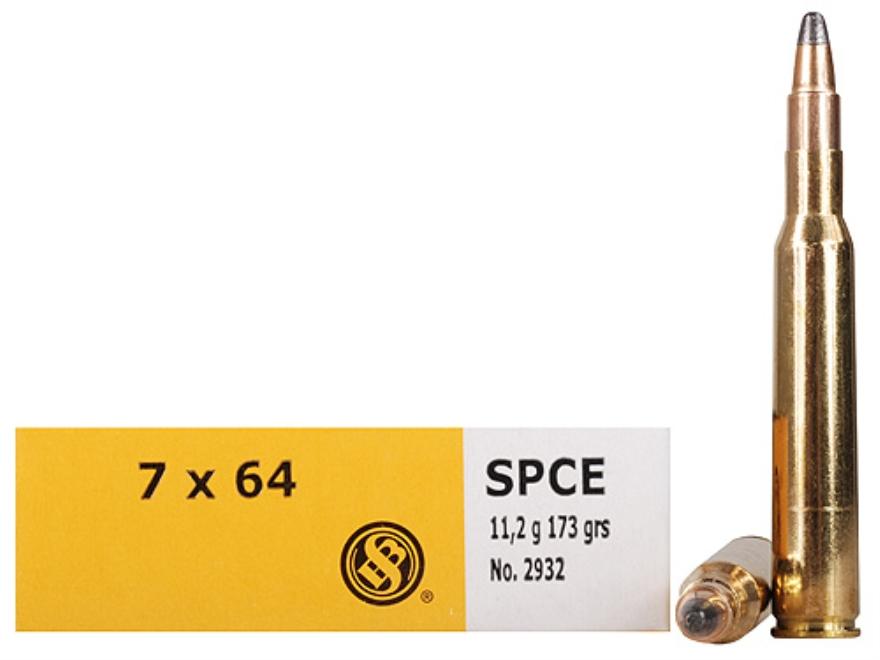 Sellier & Bellot Ammunition 7x64mm Brenneke 173 Grain Soft Point Cutting Edge Box of 20