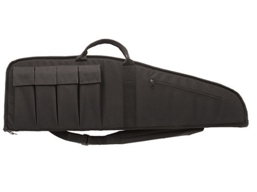 "Bulldog Hybrid Tactical Rifle Gun Case 35"" with 5 Pockets Nylon Black"