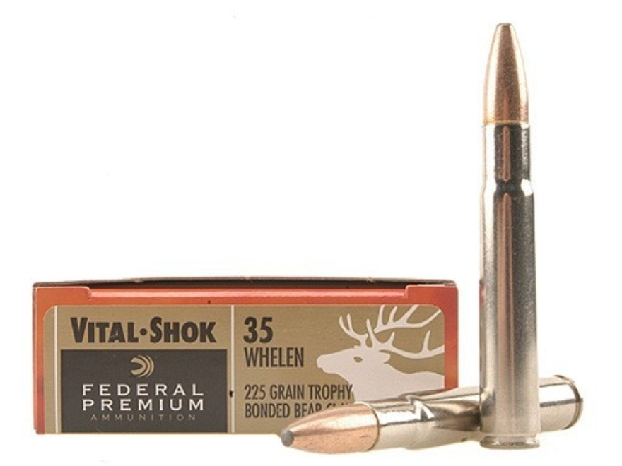 Federal Premium Vital-Shok Ammunition 35 Whelen 225 Grain Trophy Bonded Bear Claw Box o...