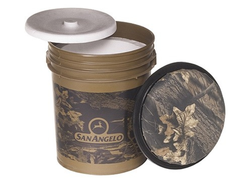 San Angelo Hunting Bucket With Swivel Lid and Insulated Liner 5 Gallon Mossy Oak Camo
