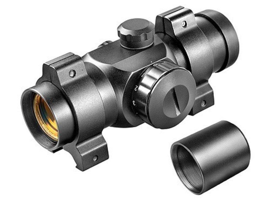 Barska Red Dot Sight 30mm Tube 1x 25mm 5 MOA Dot with Weaver-Style Rings Matte