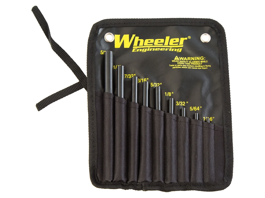 Wheeler Engineering Roll Pin Starter Punch Set Steel