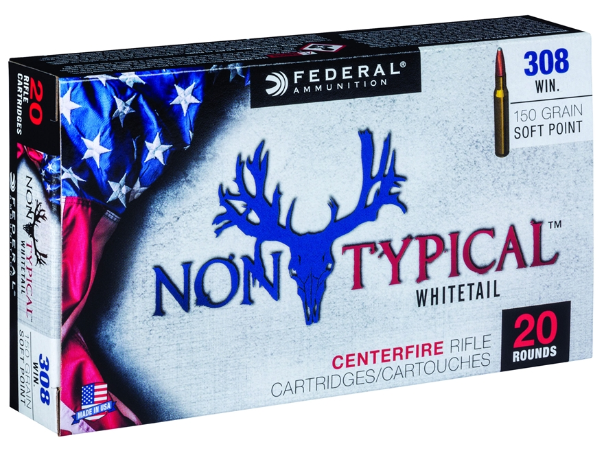 Federal Non-Typical Ammunition 308 Winchester 150 Grain Soft Point