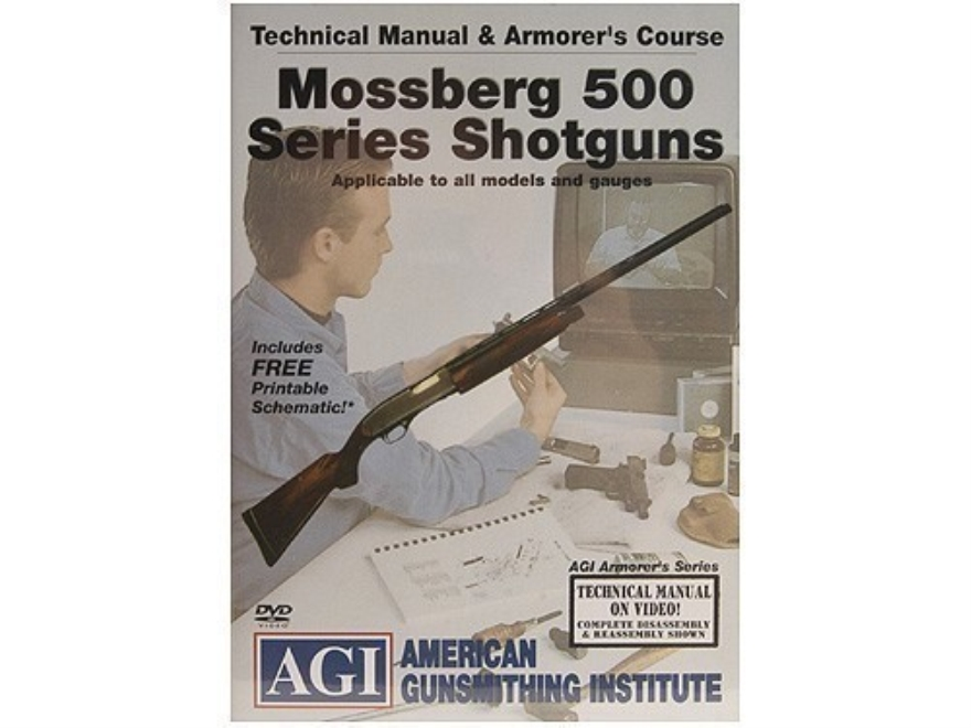 "American Gunsmithing Institute (AGI) Technical Manual & Armorer's Course Video ""Mossber..."