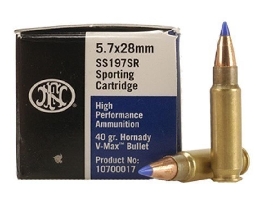 FN SS197SR Ammunition 5.7x28mm FN 40 Grain Hornady V-Max