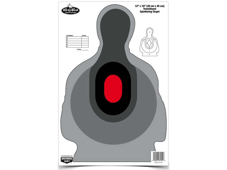 """Birchwood Casey Dirty Bird 12"""" x 18"""" Transitional Silhouette Targets Pack of 8"""