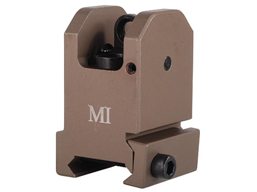 Midwest Industries Fixed Rear Sight AR-15 Flat-Top Aluminum