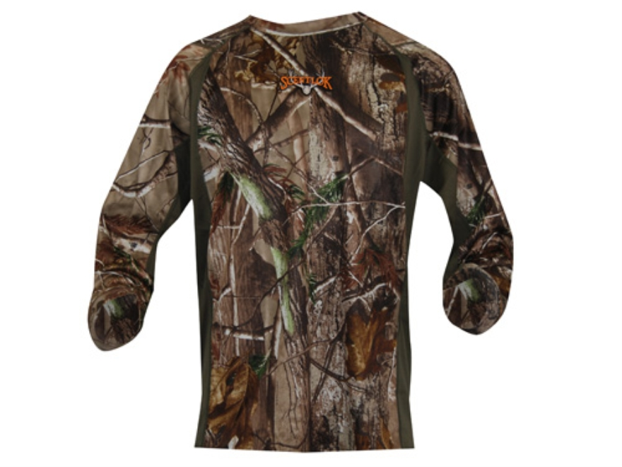 Scent-Lok Men's Ambush Crew Shirt Long Sleeve Polyester Realtree AP Camo 2XL 50-52