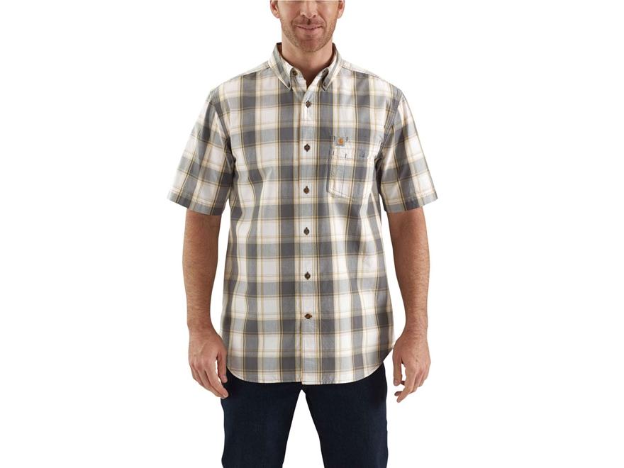 Carhartt Men 39 S Essential Plaid Button Up Shirt Short