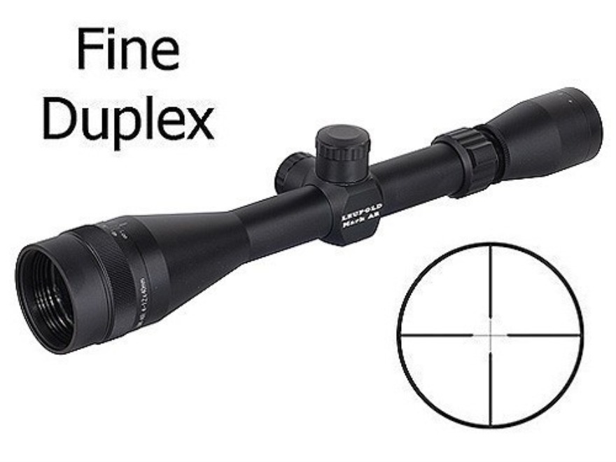 Leupold Mark AR Rifle Scope 4-12x 40mm Adjustable Objective Fine Duplex Reticle Matte
