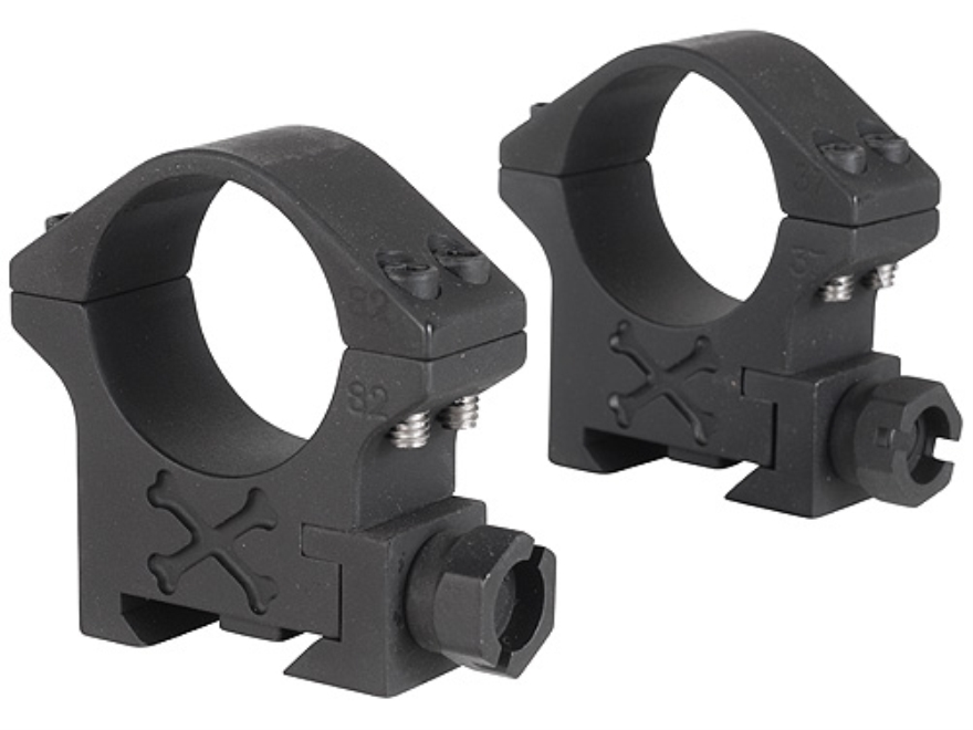 Talley 30mm Tactical Picatinny-Style Rings Matte (Black Armor)