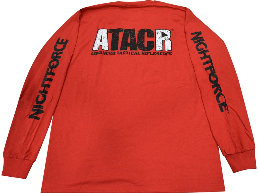 Nightforce ATACR T-Shirt Long Sleeve Cotton Red