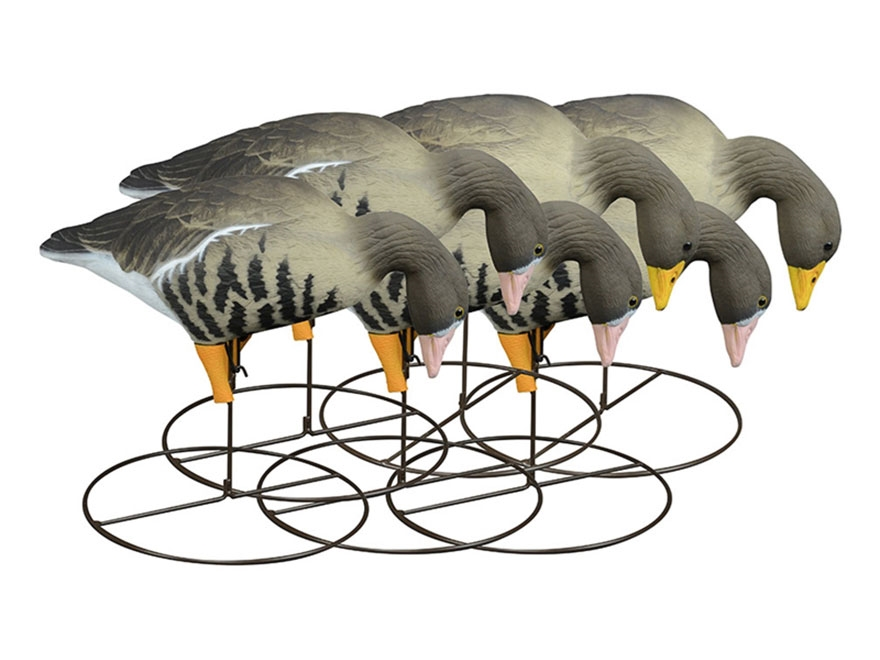Higdon Full Size Full Body TruFeeder Specklebelly Goose Decoy Polymer Pack of 6