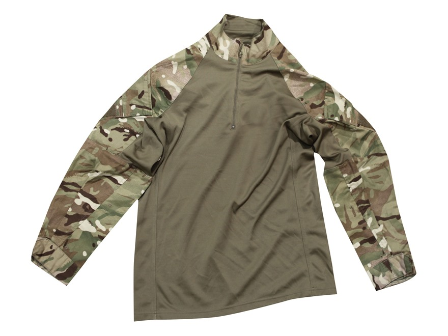 Military Surplus British UBACS Combat Shirt Multi-Terrain Pattern Camo L