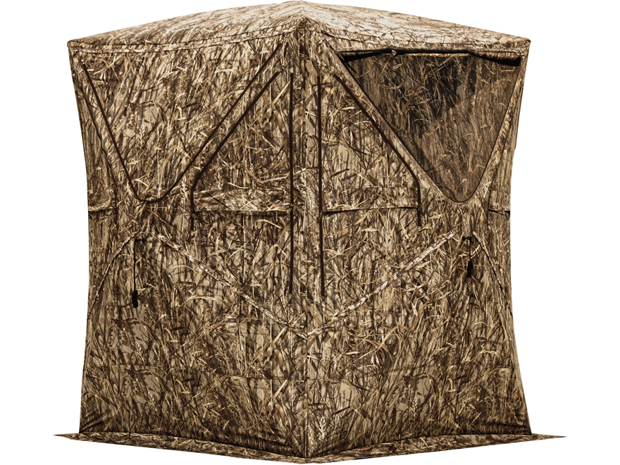 "Barronett Big Mike Ground Blind 75"" x 75"" x 80"" Polyester Blades Camo"