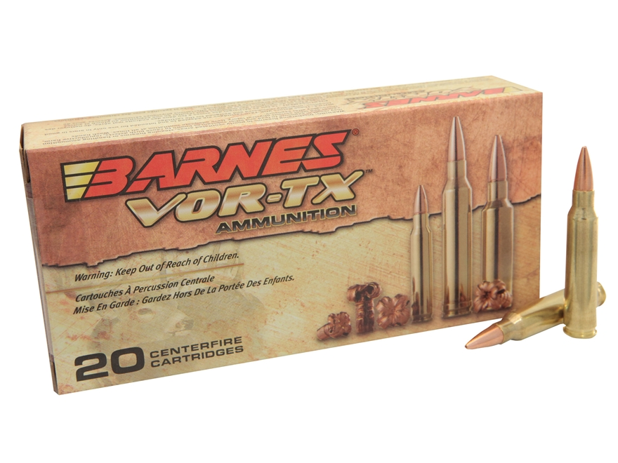 Barnes VOR-TX Ammunition 5.56x45mm NATO 70 Grain Triple-Shock X Bullet Hollow Point Lea...